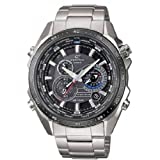 Casio - EQS-500DB-1A1ER - Gents Watch - Quartz - Analogue - Stainless Steel Silver Strap