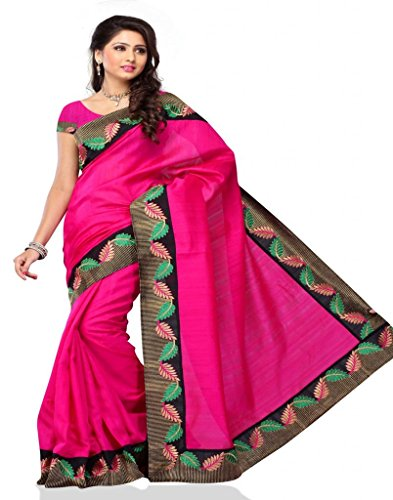 Meghdoot Rani Colour Tassar Saree (Multicolor)