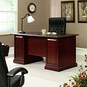 Sauder Heritage Hill Executive Desk, Classic Cherry
