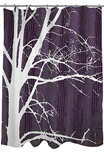 Thumbprintz Shower Curtain Aurora Silhouette 4 Tree