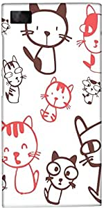 Snoogg Kitties Cute Case Cover For Xiaomi Redmi Note