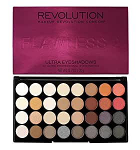 Makeup Revolution Ultra 32 Eyeshadow Palette, Flawless 2, 14g