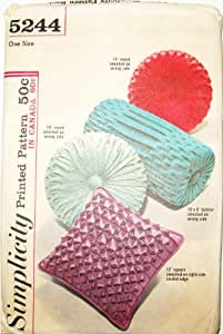 Simplicity Sewing Pattern 5244 VINTAGE! 1960's SMOCKED PILLOW PATTERN **FAST SHIPPING**