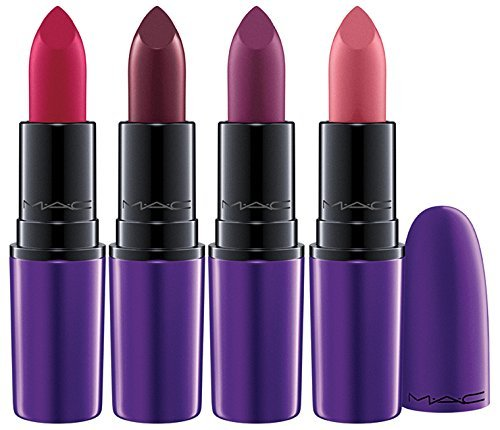 MAC Magic of the Night Lipsticks Set of 4: Please Me, All Fired Up, Evening Rendezvous, Dark Side (Dark Side Lipstick compare prices)