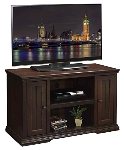 43.75 in. TV Cabinet in Distressed Danish Cherry Finish