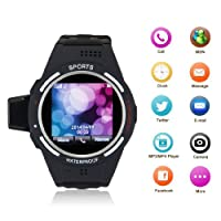 EXCELVAN PW9-SB Anti-Lost Daul Bluetooth Sports Pedometer Phone Watch Smartwatch the Perfect Companion for Smart Phone/Android/iphone BLACK by EXCELVAN