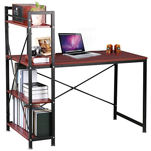 bureau-dordinateur-table-detude-pour-bureau-maison-meubles-etude-station-marron