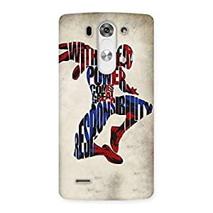Enticing Power And Responsibility Multicolor Back Case Cover for LG G3 Beat