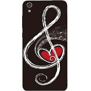 Casotec Love Note Music Design Hard Back Case Cover for Lenovo S850