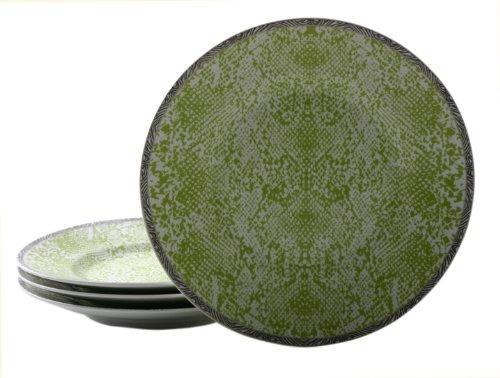 222 Fifth Python Salad Plate, Lime Green, Set Of 4