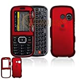 LG Cosmos VN250/Rumor2 LX265 Cell Phone Red Rubber Feel Protective Case Faceplate Cover
