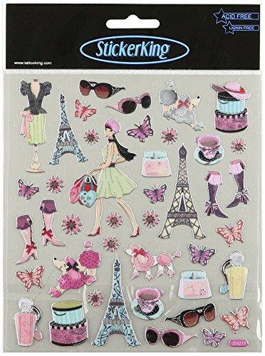 Multi-Colored Stickers-Bonjour!