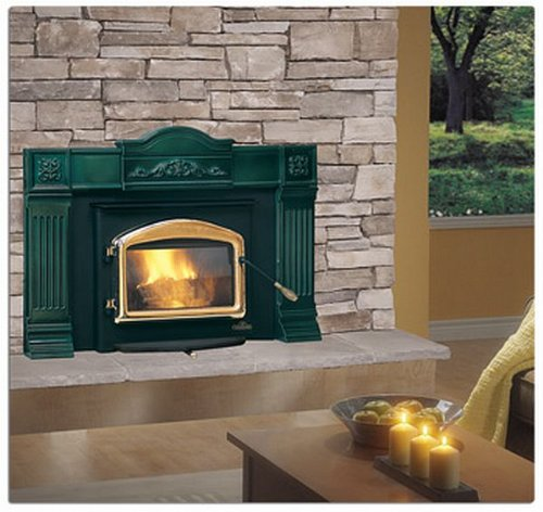 Deluxe EPA Wood Burning Insert Style / Finish: Early American Webbed Arched / Painted Black