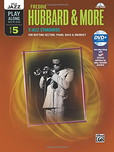 alfred-jazz-play-along-freddie-hubbard-more-vol-5-rhythm-section-piano-bass-drum-set-book-dvd
