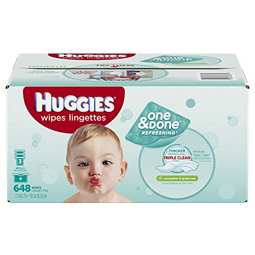 Huggies One Amp Done Refreshing Baby Wipes Refill Cucumber