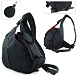 New First2savvv Black professional hardwearing waterproof DSLR digital camera / Lens / Tripod shoulder carrying case bag for Canon EOS 400D with UV lens filter protection bag case