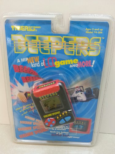 1995 Tiger Electronics, Inc. Tiger Electronics Beepers Screamin' Speedway Pager-like LCD Handheld-Held - 1