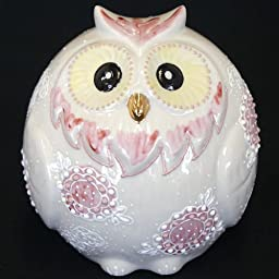 Lucky OWL Deko-Mori White Japanese Kutani ceramic by Kutani