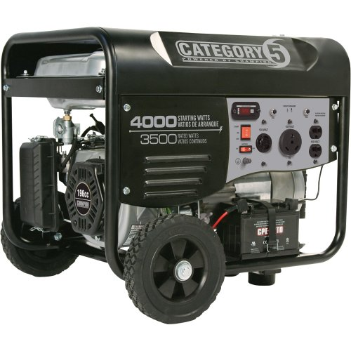 Category 5 Electric Start Generator With Wireless Remote Control - 4000 Surge Watts, 3500 Rated Watts, Epa-Compliant, Model# 46505