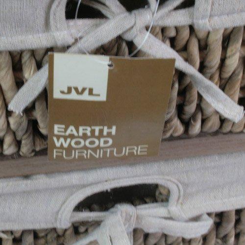 JVL Armoire avec siège et 2 tiroirs Terre 59 x 35 x 55 cm