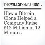 How a Bitcoin Clone Helped a Company Raise $12 Million in 12 Minutes   Paul Vigna