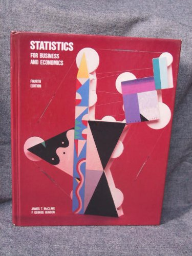 Statistics: Business and Economics