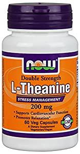 Now Foods Theanine Veg Capsules, 200 mg, 120 Count