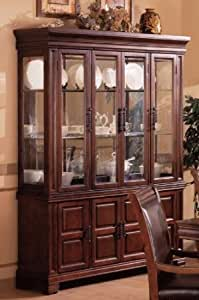 Amazon Com China Cabinet Buffet Hutch Old West Style Dark