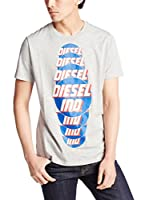 Diesel Camiseta Manga Corta T-Palagia (Gris Jaspeado)