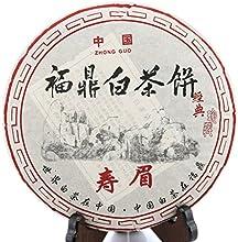 300g 1058 Oz 2008 Year FuDing Organic Premium Aged Shou Mei Long Life Eyebrow Cake White Tea