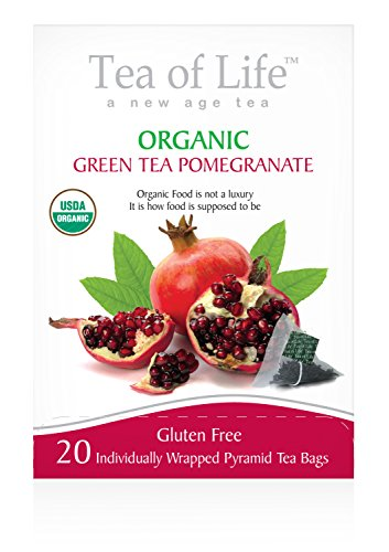 Tea Of Life Organic Green Tea, Pomegranate, 20 Count (Pomegranate Fruit Slices compare prices)