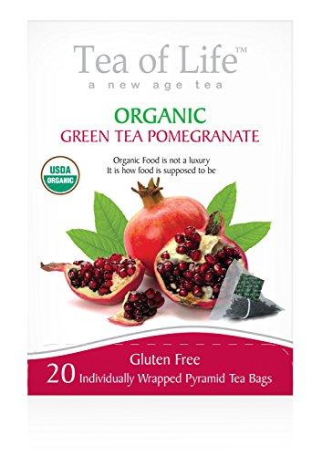 Tea Of Life Organic Green Tea, Pomegranate, 20 Count (Pomegranate Fruit Slices compare prices)