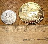 1oz Ounce US American Liberty Gold Layered Replica 2010 Coin