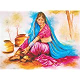 "Dolls Of India ""Indian Lady"" Reprint On Paper - Unframed (29.21 X 23.50 Centimeters)"