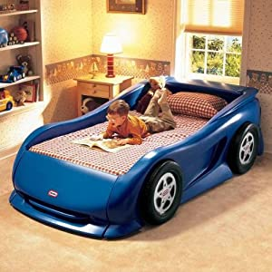 Little Tikes Sports Car Twin Bed (Blue)