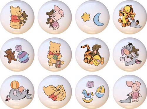 Baby Pooh Winnie the Pooh and Friends Babies Drawer Pulls Knobs Set of 12