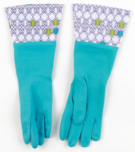 Brighten Up Latex Cleaning Gloves, Colors Vary, 3-Pack