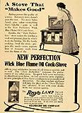 1908 Vintage Ad New Perfection Oil Cook Stove Rayo Lamp - Original Print Ad