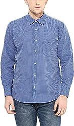 Y.U.V.I. Men's Cotton Regular Fit Casual Shirt (11113052-M, Multi-Coloured, Medium)