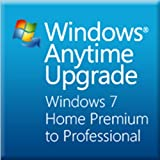 Microsoft Windows Anytime Upgrade(Home PremiumからProfessional) プロダクトキーカード