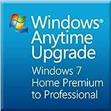 Microsoft Windows Anytime Upgrade(Home PremiumからProfessional) プロダクトキーカード