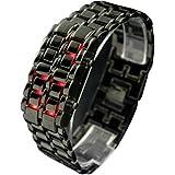 WLM Red Light LED sans visage montre-bracelet Montres Lava fer Date de montrer aux hommes en vente