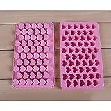 Miryo-Molde de hielo forma de coraz�n pl�stico Bandejas cubitos hielo cubos de hielo con 55 compartimentos