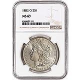 1882 O US Morgan Silver Dollar NGC Large Label $1 MS63 NGC