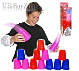 12 Quick Speed Stacker Cups Fast Stacking Stacks Competition Sport Game Toy