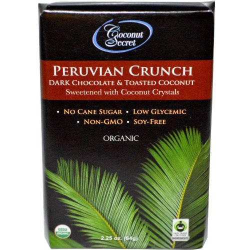 Coconut Secret Peruvian Crunch Chocolate Bar, (Pack of 12)