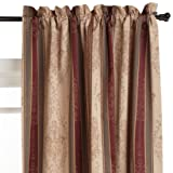 51vrWxS5KGL. SL160  52 Inch by 84 Inch Tuscan Stripe Thermal Backed Pole Top Panel, Autumn