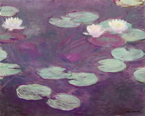 Perfect Effect Canvas ,the Reproductions Art Decorative Prints On Canvas Of Oil Painting 'Water Lilies By Claude Monet', 12x15 Inch / 30x38 Cm Is Best For Home Office Decor And Home Artwork And Gifts