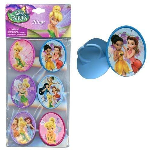 Disney 6pk Fairies Cupcake Topper Rings - 1
