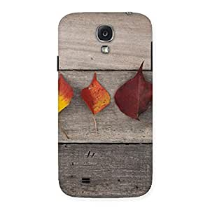 Special Leaves on Wood Back Case Cover for Samsung Galaxy S4